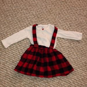 2- piece Holiday bodysuit & skirtall set